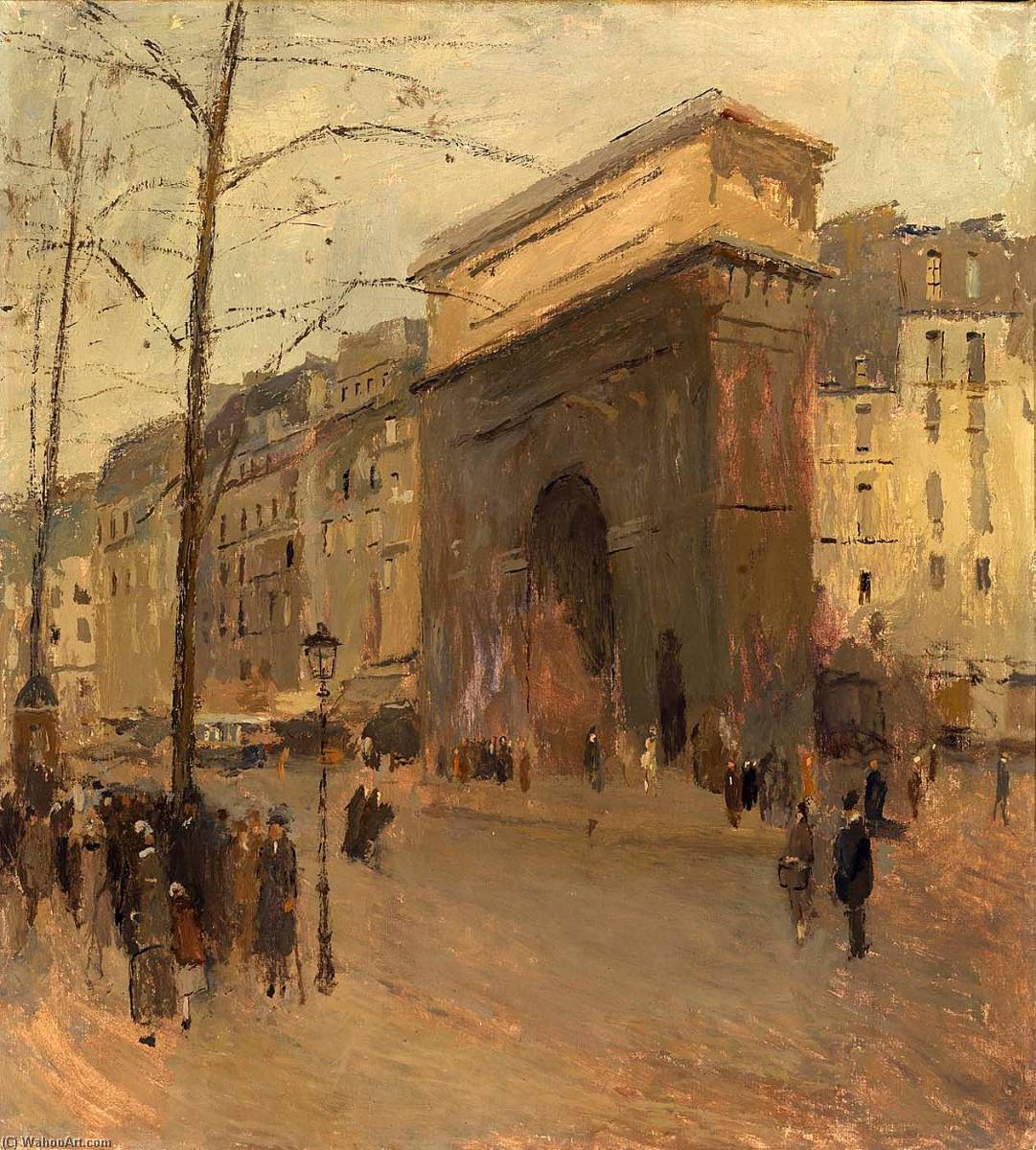 Order Reproductions | Porte St. Denis by Frank Edwin Scott | Most-Famous-Paintings.com