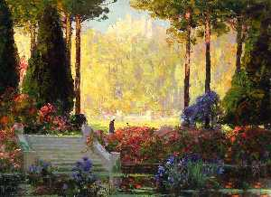 Thomas Edwin Mostyn - The Garden of the Castle
