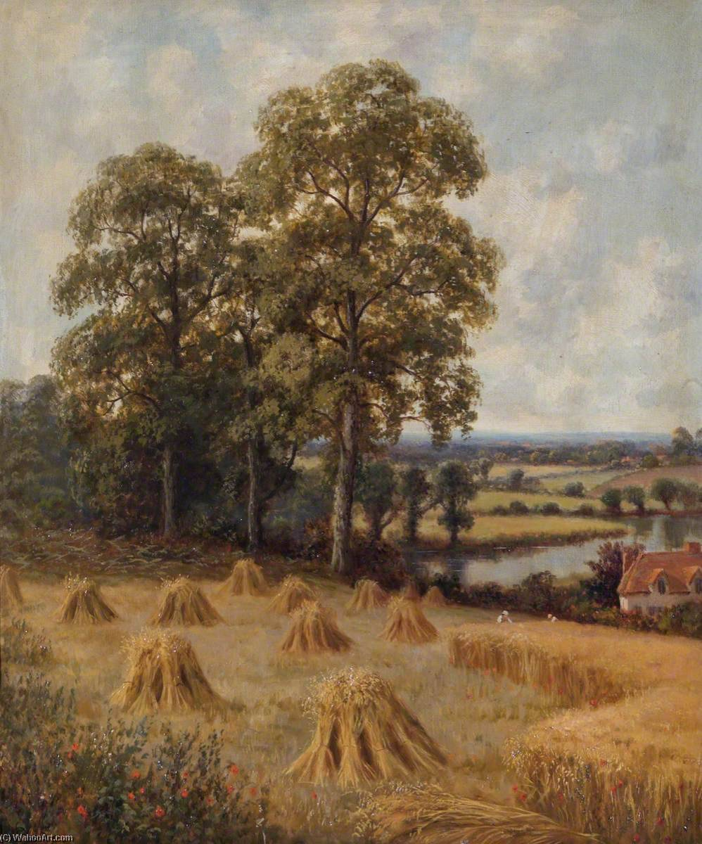 famous painting Reapers in a Cornfield of John Bonny