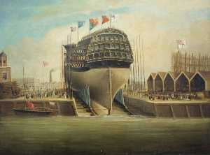 Frederick J Tudgay - Launching of the 'Royal George'