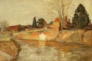 George Sweet - The River at Tenbury Wells