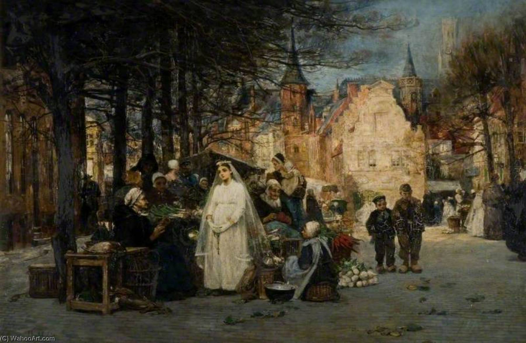 famous painting The First Communion of Flora Macdonald Reid