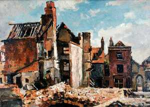 Edward Robert King - Ruins of St Thomas' Street, Portsmouth