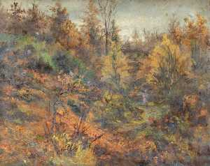 William Henry Hope - Autumn, Croham Hurst, Croydon, Surrey, North Side