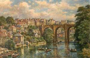 Bernard Finnigan Gribble - Bridge Scene, Knaresborough