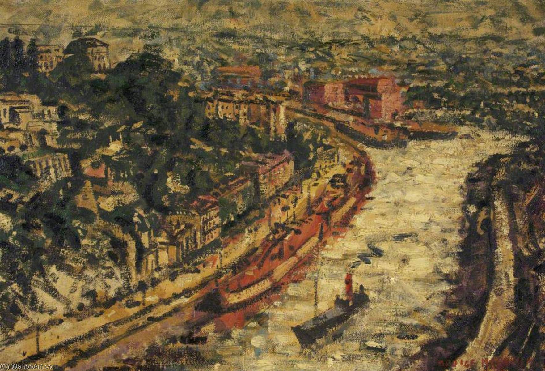 famous painting View of Bristol from the Suspension Bridge of George Melhuish