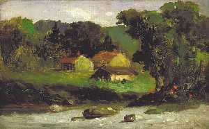 Edward Mitchell Bannister - Rocky Farm, Newport, (painting)