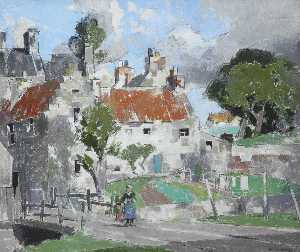 John Guthrie Spence Smith - A Village in Fife