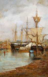 John Moore Of Ipswich - Ships in Ipswich Dock, Suffolk