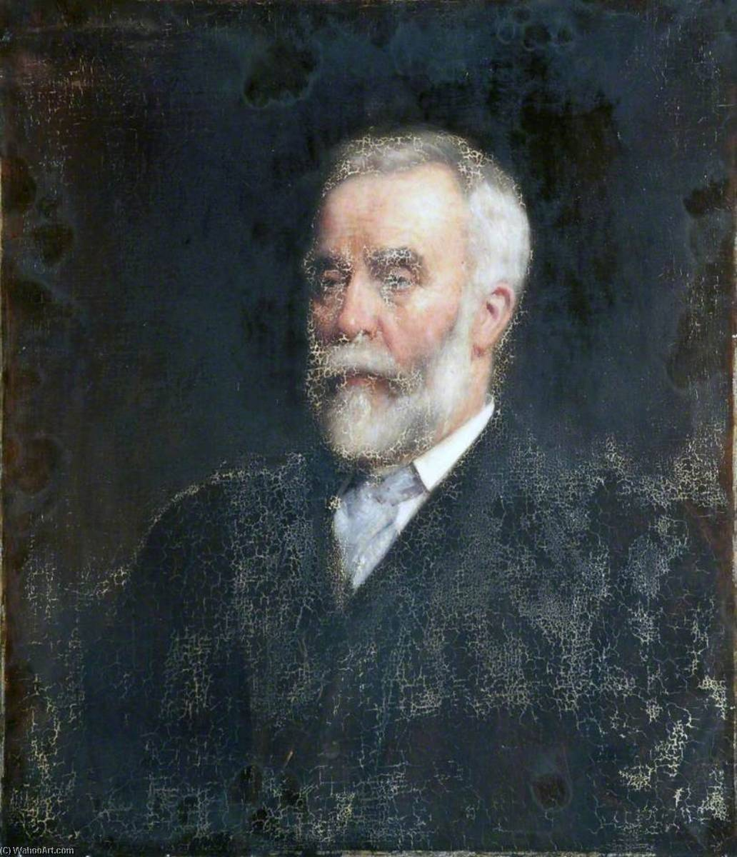 famous painting Portrait of a Man with a White Beard of Robert Edward Morrison