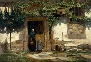 Robert Weir Allan - Doorway and Figures