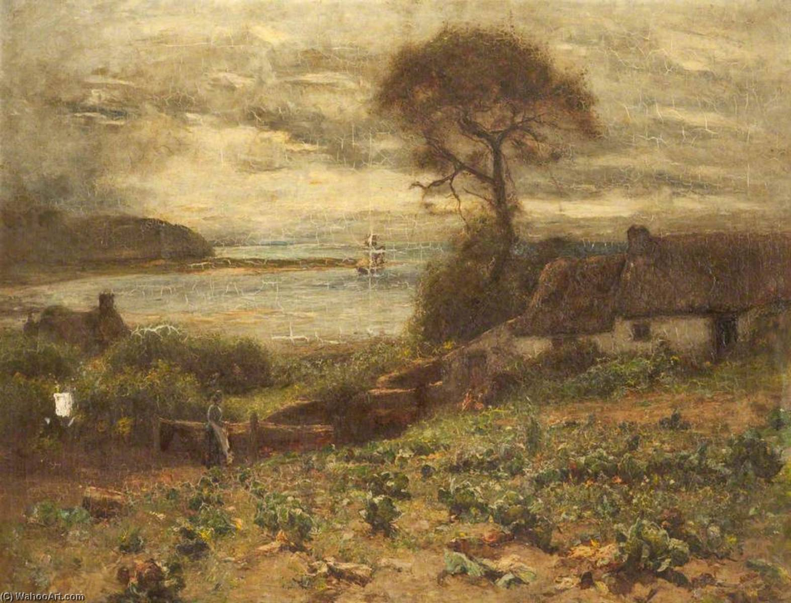 famous painting The Fisherman's Cottage, Deganwy of Joshua Anderson Hague