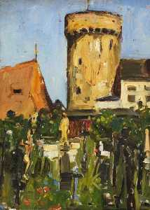Maud Ireland Button - Church Tower