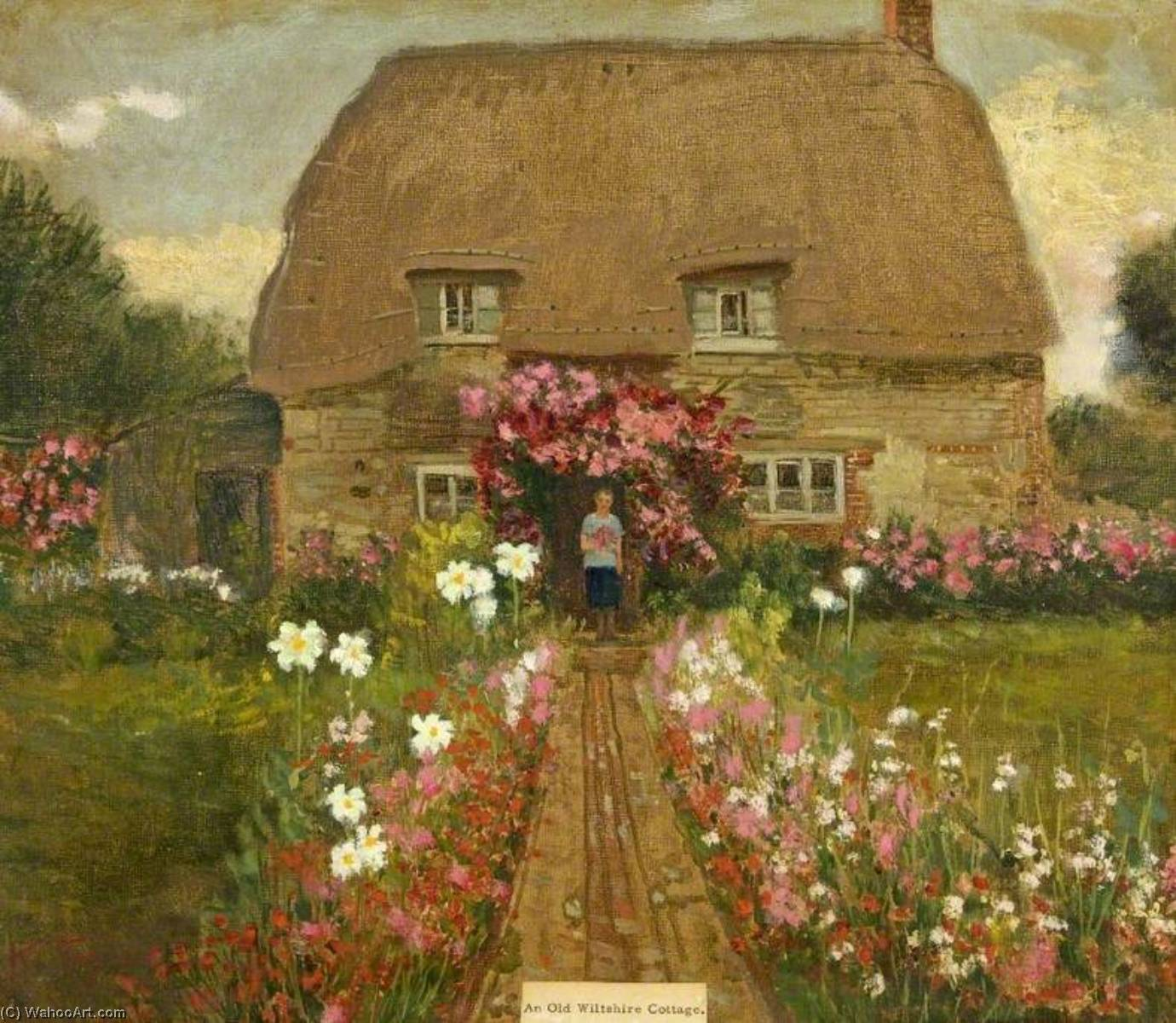 famous painting An Old Wiltshire Cottage of Kate Allen Tryon