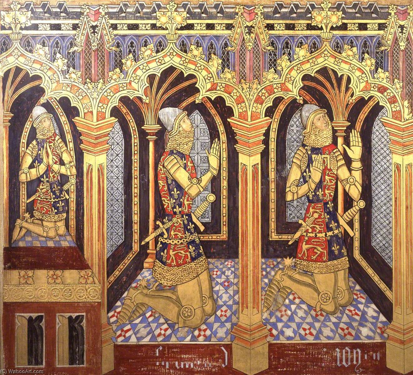 famous painting Reconstruction of Medieval Mural Painting, Donors King Edward's Sons of Ernest William Tristram