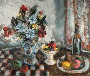 Rowland Suddaby - Still Life with Fruit and Flowers