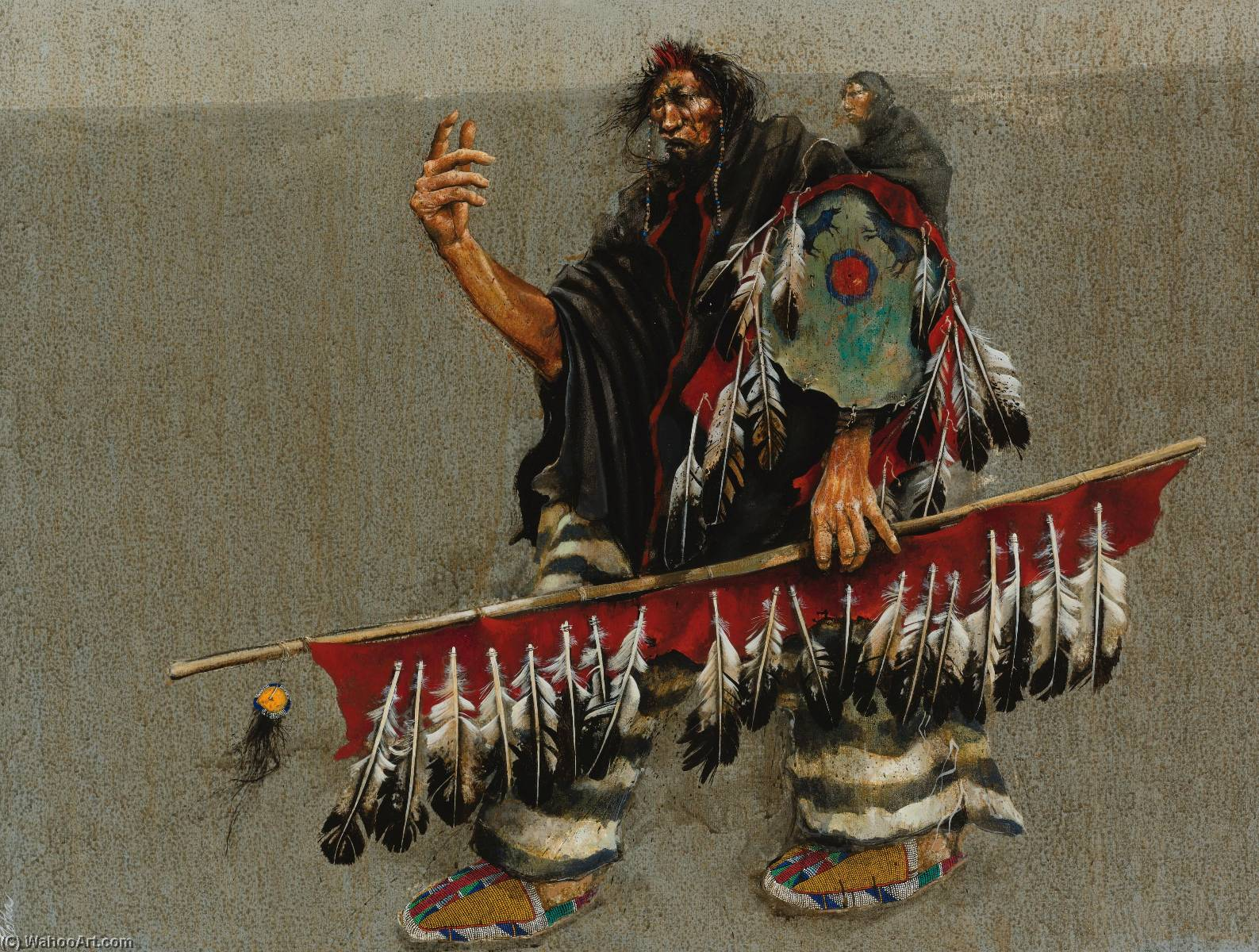 Indian with Papoose by Paul Pletka | Painting Copy | Most