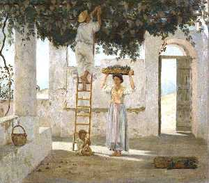 Edgar Barclay - The Grape Harvest