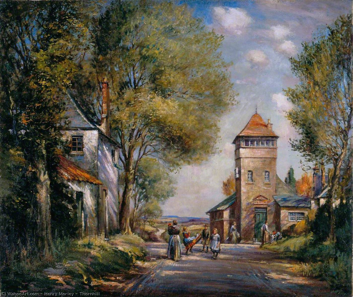 famous painting Thornhill of Henry Morley