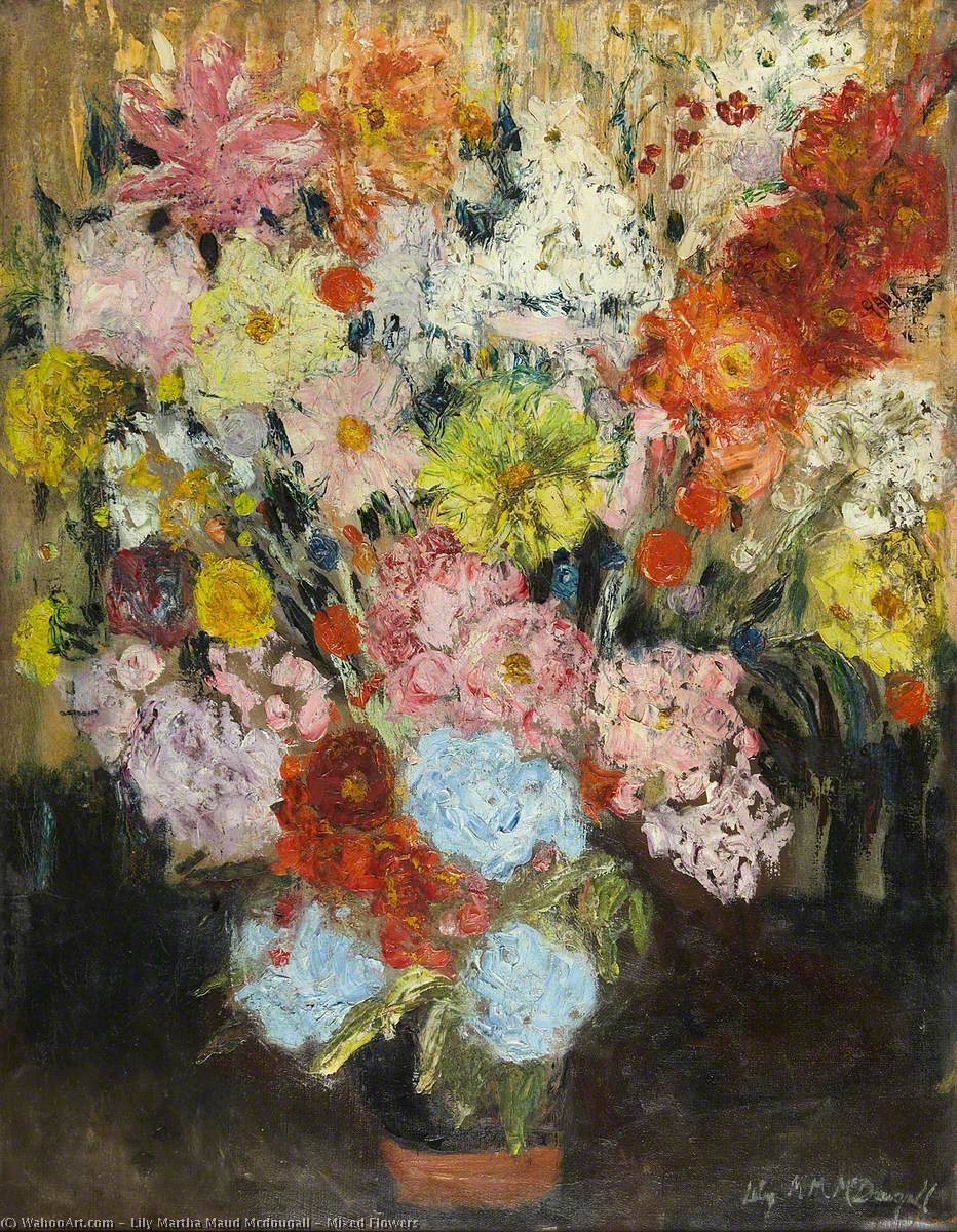 Mixed Flowers By Lily Martha Maud Mcdougall
