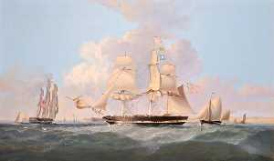 Thomas Dove - 'Combatant' Entering the Mersey