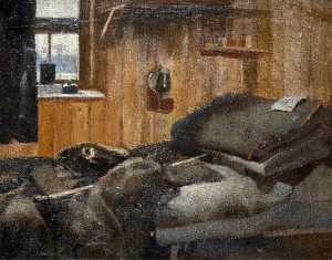 Harry Bush - Interior of Barracks, 17 A. A. Coy, North Queensferry