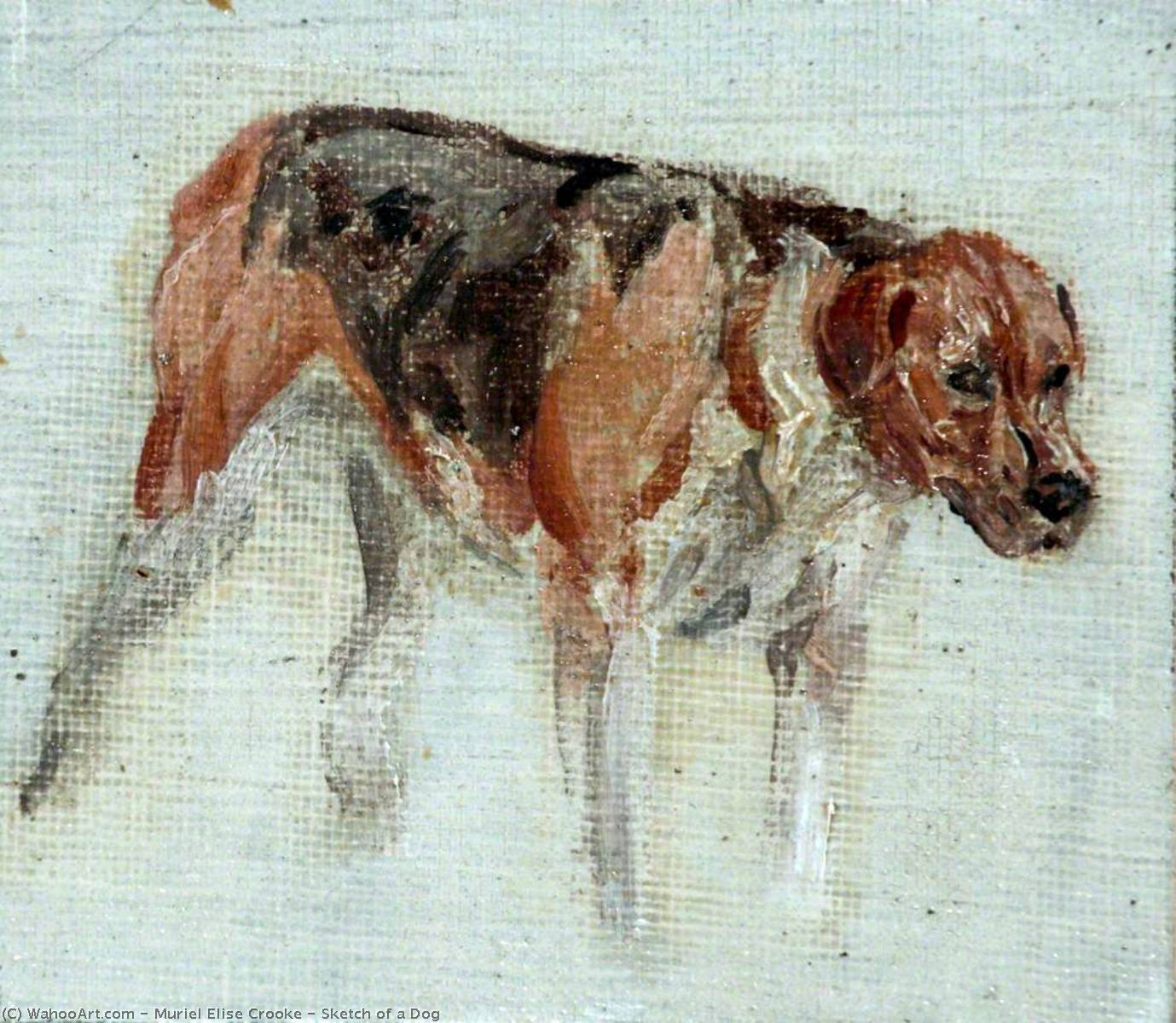 famous painting Sketch of a Dog of Muriel Elise Crooke