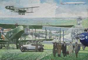William Kempster - British Air Transport (polyptych, panel 4 of 7)