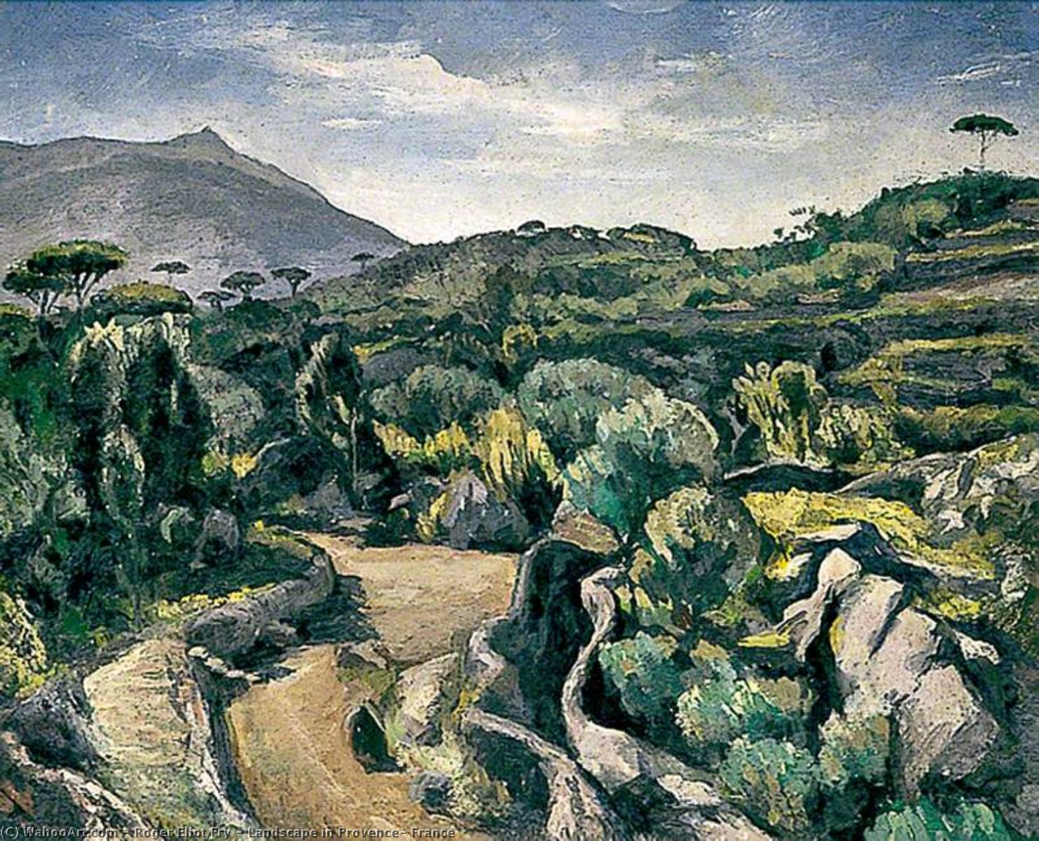 famous painting Landscape in Provence, France of Roger Eliot Fry
