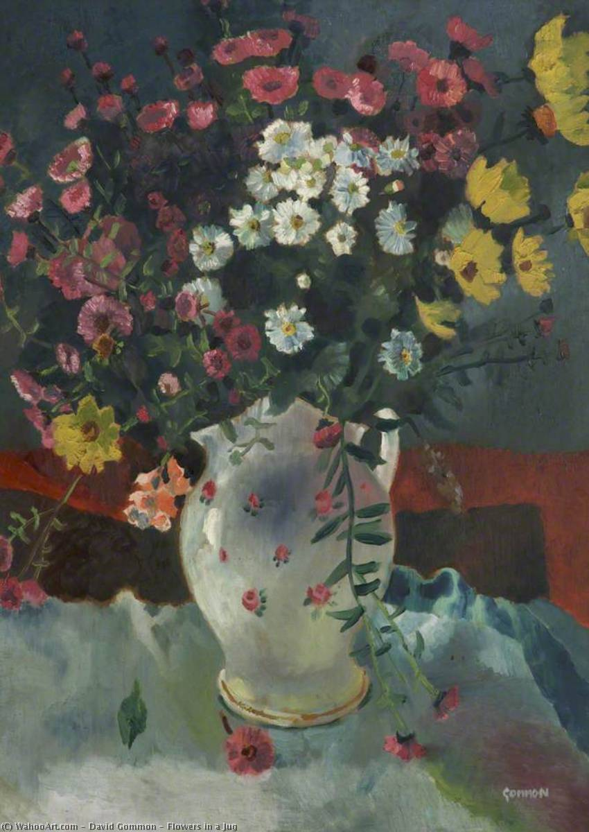 famous painting Flowers in a Jug of David Gommon
