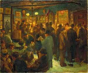 John Sloan - Mc Sorley's Saturday Night