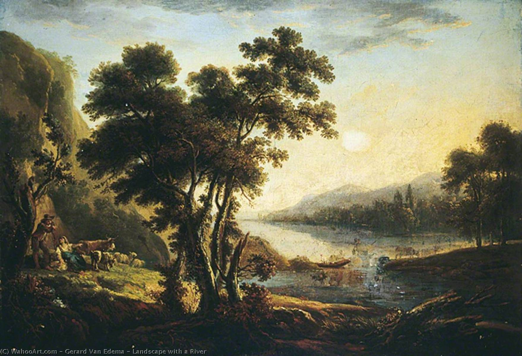 famous painting Landscape with a River of Gerard Van Edema