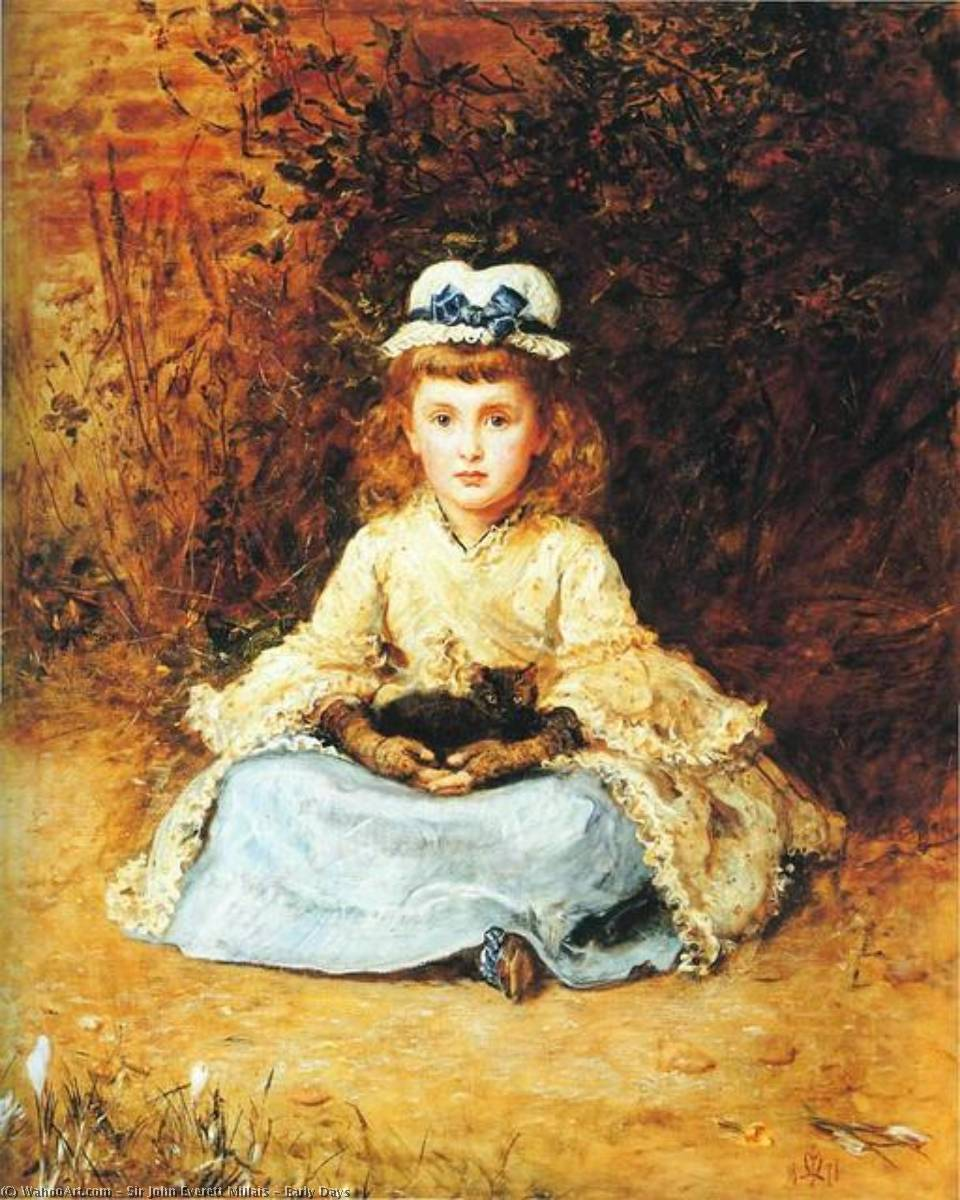 Buy Museum Art Reproductions | Early Days by John Everett Millais | Most-Famous-Paintings.com